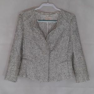 Ann Taylor LOFT Frayed Tweed Jacket